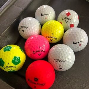 """Grab bag"" assortment of 24 golfballs."
